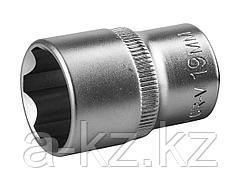 Торцовая головка ЗУБР 27725-19_z02, МАСТЕР, (1/2), Cr-V, SUPER LOCK, хроматированное покрытие, 19 мм