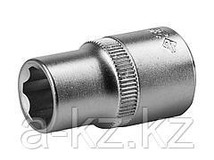 Торцовая головка ЗУБР 27725-14_z02, МАСТЕР, (1/2), Cr-V, SUPER LOCK, хроматированное покрытие, 14 мм