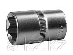 Торцовая головка ЗУБР 27725-17_z02, МАСТЕР, (1/2), Cr-V, SUPER LOCK, хроматированное покрытие, 17 мм