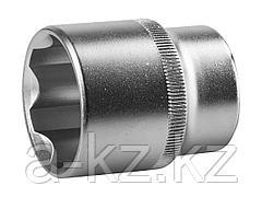 Торцовая головка ЗУБР 27725-30_z02, МАСТЕР, (1/2), Cr-V, SUPER LOCK, хроматированное покрытие, 30 мм