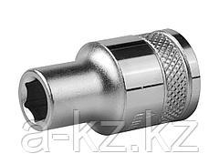 Торцовая головка KRAFTOOL 27805-08_z01, INDUSTRIE QUALITAT, Cr-V, FLANK, хромосатинированная, 1/2, 8 мм