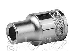 Торцовая головка KRAFTOOL 27805-09_z01, INDUSTRIE QUALITAT, Cr-V, FLANK, хромосатинированная, 1/2, 9 мм