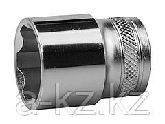 Торцовая головка KRAFTOOL 27805-22_z01, INDUSTRIE QUALITAT, Cr-V, FLANK, хромосатинированная, 1/2, 22 мм