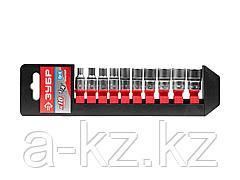 Набор инструментов торцовые головки ЗУБР 27656-H10, МАСТЕР, на пластиковом рельсе, Cr-V, 4 - 13 мм, 10 предметов