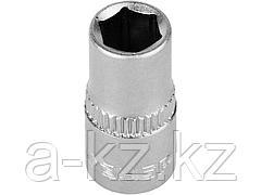 Головка торцовая ЗУБР 27715-07, МАСТЕР, (1/4), Cr-V, FLANK, хроматированное покрытие, 7 мм