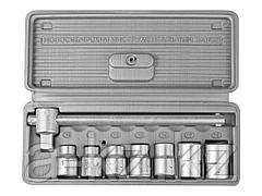 Набор инструментов торцовые головки НИЗ 2761-10, Шоферский инструмент №1, в пластиковом кейсе, 8 предметов