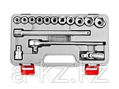 Набор инструментов торцовые головки НИЗ 2761-20_z01, Шоферский инструмент №2Д, в пластиковом кейсе, 15 предметов