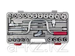 Набор инструментов торцовые головки НИЗ 2761-40, Шоферский инструмент №4, в пластиковом кейсе, 26 предметов