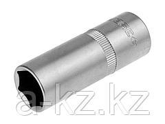 Торцовая головка ЗУБР 27728-16, МАСТЕР, свечная, с резиновой вставкой, (1/2), Cr-V, FLANK, хроматированное покрытие, 16 мм