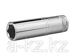 Торцовая головка KRAFTOOL 27807-15_z01, INDUSTRIE QUALITAT, удлиненная, Cr-V, FLANK, хромосатинированная, 1/2, 15 мм