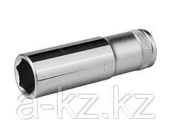 Торцовая головка KRAFTOOL 27807-17_z01, INDUSTRIE QUALITAT, удлиненная, Cr-V, FLANK, хромосатинированная, 1/2, 17 мм