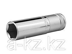 Торцовая головка KRAFTOOL 27807-19_z01, INDUSTRIE QUALITAT, удлиненная, Cr-V, FLANK, хромосатинированная, 1/2, 19 мм