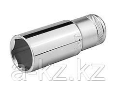Торцовая головка KRAFTOOL 27807-22_z01, INDUSTRIE QUALITAT, удлиненная, Cr-V, FLANK, хромосатинированная, 1/2, 22 мм