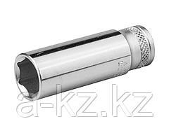 Торцовая головка KRAFTOOL 27817-10_z01, INDUSTRIE QUALITAT, удлиненная, Cr-V, FLANK, хромосатинированная, 1/4, 10 мм