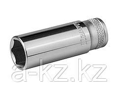 Торцовая головка KRAFTOOL 27817-13_z01, INDUSTRIE QUALITAT, удлиненная, Cr-V, FLANK, хромосатинированная, 1/4, 13 мм