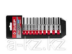 Набор инструментов торцовые головки ЗУБР 27657-H10, МАСТЕР, удлиненные на пластиковом рельсе, Cr-V, 4 - 13 мм, 10 предметов