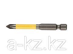 Биты для шуруповерта KRAFTOOL 26101-2-65, торсионная, обточенная, для механизированного инструмента, PH2, 65 мм, 2 шт.
