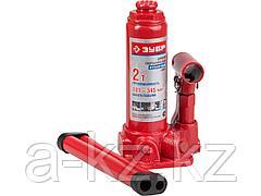 Домкрат гидравлический бутылочный ЗУБР 43060-2, ЭКСПЕРТ, 2 т, 181 - 345 мм
