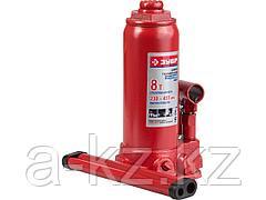 Домкрат гидравлический бутылочный ЗУБР 43060-8, ЭКСПЕРТ, 8 т, 230 - 457 мм