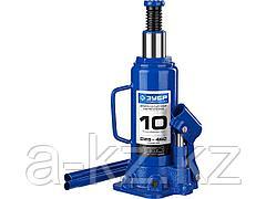 Домкрат гидравлический бутылочный ЗУБР 43060-10_z01, Профессионал, T50, 10 т, 228 - 462 мм