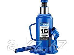 Домкрат гидравлический бутылочный ЗУБР 43060-16_z01, Профессионал, T50, 16 т, 228 - 465 мм