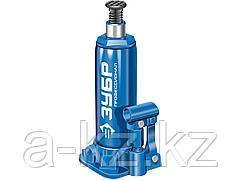 Домкрат гидравлический бутылочный ЗУБР 43060-6-K_z01, Профессионал, T50, 6 т, 215 - 415 мм, в кейсе