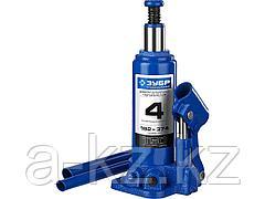 Домкрат гидравлический бутылочный ЗУБР 43060-4_z01, Профессионал, T50, 4 т, 192 - 374 мм