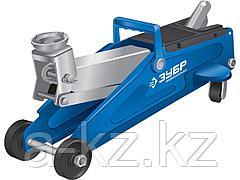 Домкрат гидравлический подкатной ЗУБР 43052-2-K, Профессионал, T50, 2 т, 130 - 380 мм, в кейсе