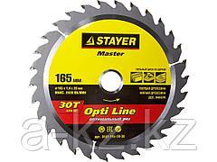 Пильный диск по дереву STAYER 3681-165-20-30, MASTER, OPTI-Line, 165 x 20 мм, 30T