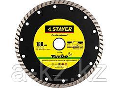 Алмазный диск отрезной STAYER 3662-180_z01, PROFI, сегментированный, сухая и влажная резка, для УШМ, 22,2 х 180 мм