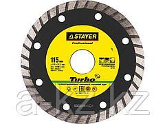 Алмазный диск отрезной STAYER 3662-115_z01, PROFI, сегментированный, сухая и влажная резка, для УШМ, 22,2 х 115 мм