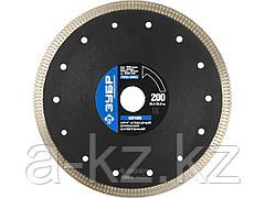Алмазный диск отрезной по керамограниту ЗУБР 36659-200, ПРОФЕССИОНАЛ, супертонкий 200 х 25,4 х 22,2 мм
