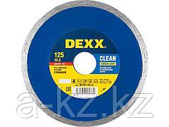 Алмазный диск отрезной DEXX 36703-125_z01, влажная резка, сплошной, для УШМ, 125 х 5 х 22,2 мм
