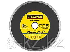 Алмазный диск отрезной STAYER 3664-180_z01, PROFI, сплошной, влажная резка, для УШМ, 22,2 х 180 мм