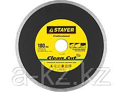 Алмазный диск отрезной STAYER 3665-180_z01, PROFI, сплошной, влажная резка, для электроплиткореза, 25,4 х 180 мм