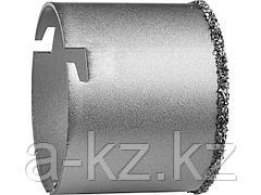 Буровая коронка с твердосплавным напылением KRAFTOOL 33401-83, кольцевая, 83 мм