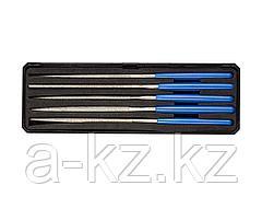 Надфиль алмазный набор ЗУБР 33388-140-H5, ЭКСПЕРТ, с алмазным напылением в пластиковом боксе, P 140, 140х75 мм, 5 предметов