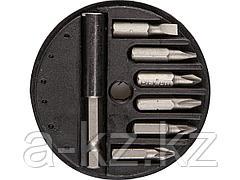 Набор бит для шуруповерта STAYER 2607-H7, биты с магнитным адаптером в круглом мини-боксе, 7 предметов