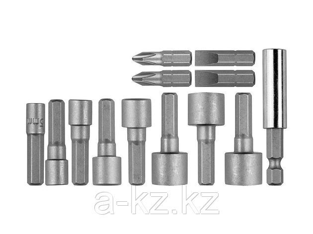 Набор бит для шуруповерта STAYER 2611-H13, биты с магнитным адаптером и торцевыми головками, 13 предметов, фото 2