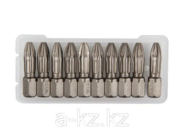 Биты для шуруповерта KRAFTOOL 26123-2-25-10, торсионная  кованая, обточенная, Cr-Mo сталь, тип хвостовика C 1/4, PZ2, 25 мм, 10 шт., фото 2