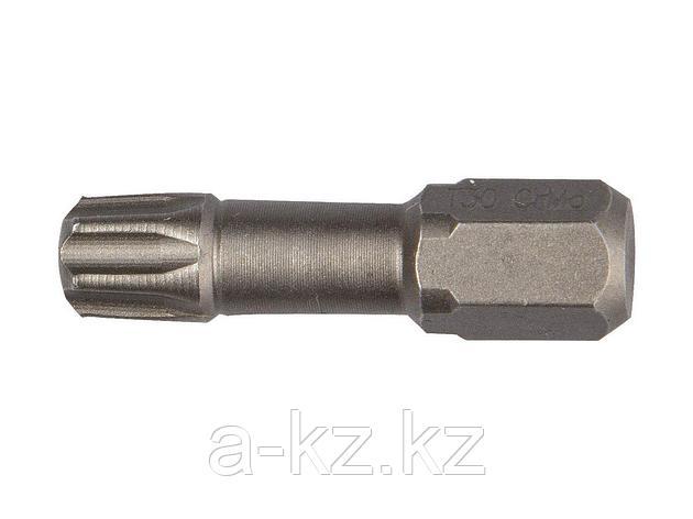 Биты для шуруповерта KRAFTOOL 26125-30-25-2, торсионная  кованая, обточенная, Cr-Mo сталь, тип хвостовика C 1/4, Т30, 25 мм, 2 шт., фото 2