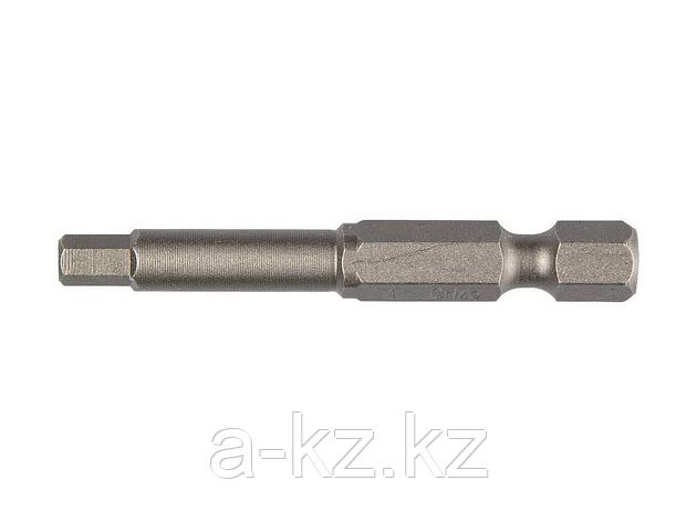 Биты для шуруповерта KRAFTOOL 26127-4-50-2, торсионная  кованая, обточенная, Cr-Mo сталь, тип хвостовика E 1/4, HEX4, 50 мм, 2 шт., фото 2