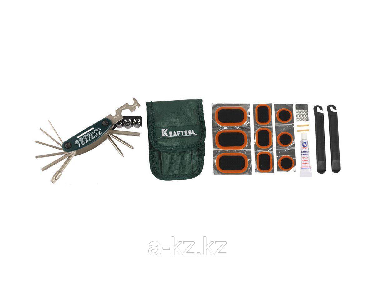 Инструмент многофункциональный Мультитул KRAFTOOL 26184-H21, EXPERT, для обслуживания велосипеда, 21-в-1