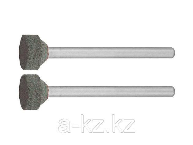 Круг ЗУБР абразивный шлифовальный из карбида кремния на шпильке, P 120, d 10,0x3,2мм, L 45мм, 2шт, 35915, фото 2