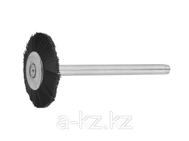 Щетка ЗУБР нейлоновая радиальная на шпильке, d  22х3,2мм, L 42мм, 1шт, 35928, фото 2