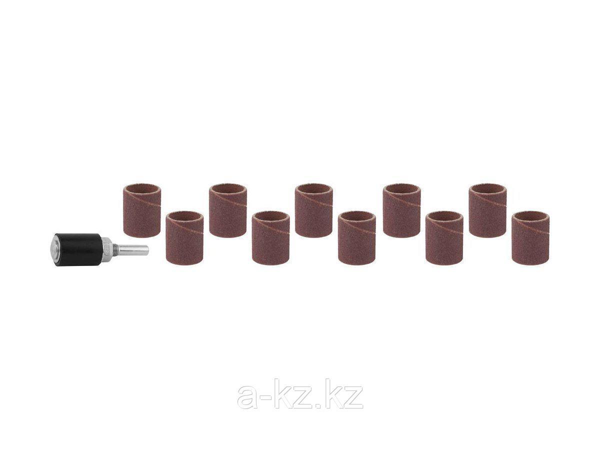 Цилиндр STAYER шлифовальный абразивный, с оправкой, d 18,7мм, Р 80/120, 10шт, 29918-H10