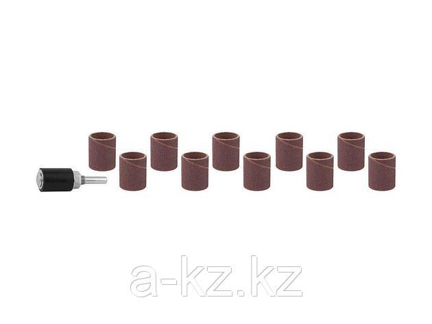 Цилиндр STAYER шлифовальный абразивный, с оправкой, d 18,7мм, Р 80/120, 10шт, 29918-H10, фото 2