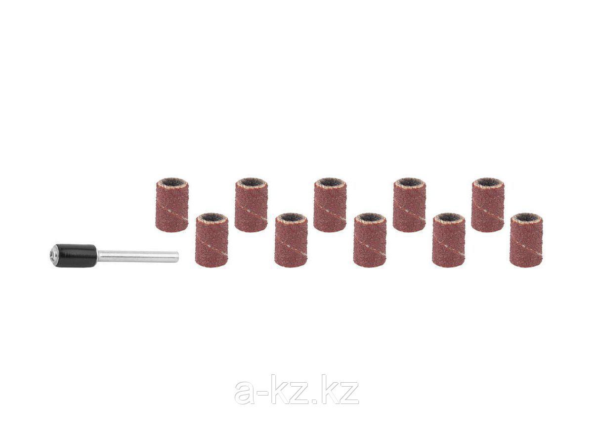 Цилиндр STAYER шлифовальный абразивный, с оправкой, d 6,25мм, Р80/120, 10шт, 29919-H10