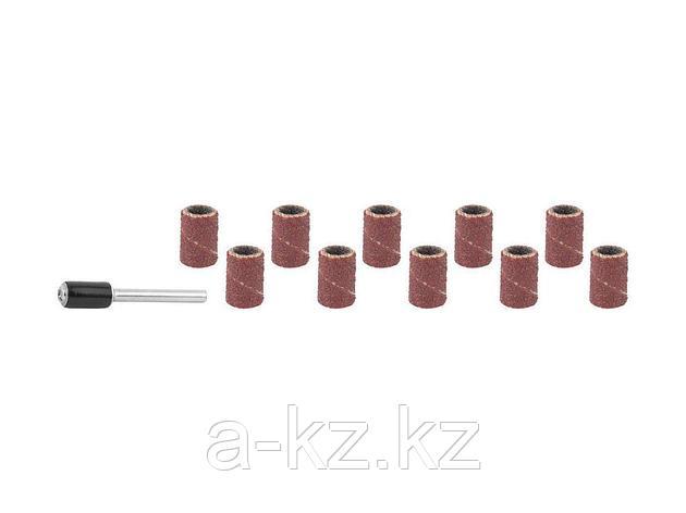 Цилиндр STAYER шлифовальный абразивный, с оправкой, d 6,25мм, Р80/120, 10шт, 29919-H10, фото 2