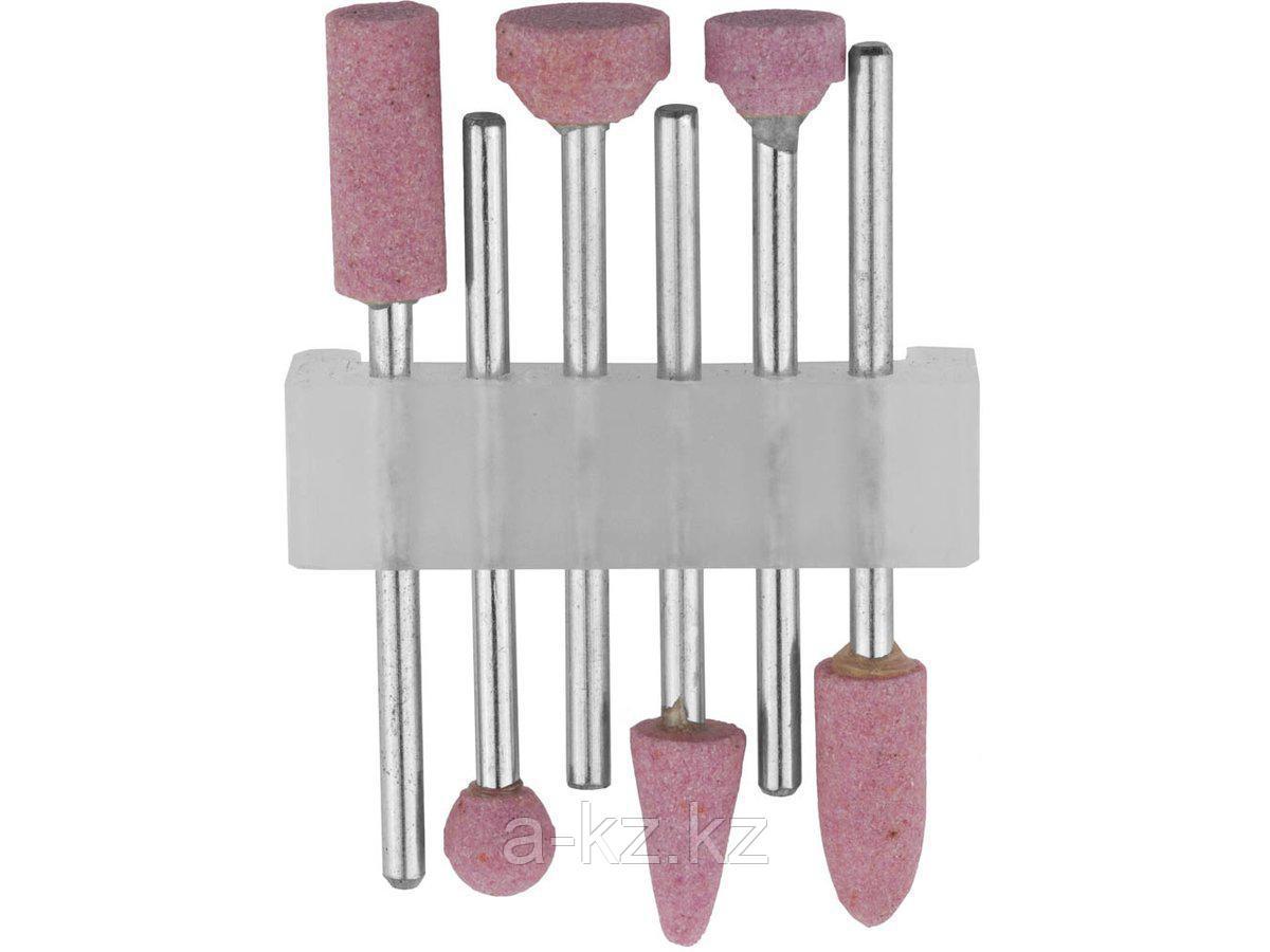 Набор STAYER: Насадки шлифовальные абразивные с оправкой, оксид алюминия, 6шт, 29920-H6
